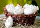 Великденски яйца с дантелена черупка