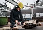 Ръчен циркулярен трион на Metabo с прецизно рязане за строители