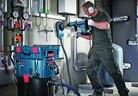 Система за безпрашно пробиване на отвори и къртене в бетон и други строителни материали