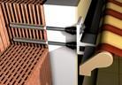 Монтиране на тента към стена с топлоизолация
