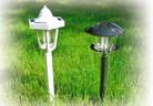 Градински лампи захранвани със слънчева енергия